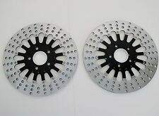 "DNA BLACK 2-PIECE 11.5"" FRONT & REAR BRAKE DISC ROTOR SET HARLEY MAMMOTH SPOKE"