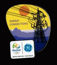 GE ENERGY CONNECTIONS - RIO DE JANEIRO 2016 OLYMPIC POWER LINES SPONSOR PIN