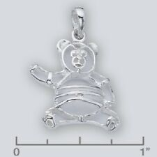 Teddy Bear Charm .925 Sterling Silver for Bracelet, Purse or Boot.Small Pendant