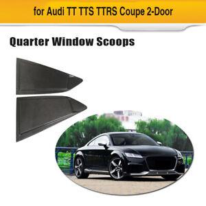 Fits Audi TT TTS TTRS Coupe Side Vent Quarter Window Scoops Carbon Fiber 15-18