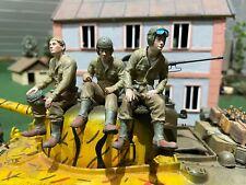 3 Figuren Amerikanischer  Panzerfahrer Tankrider WW2  1:16 Heng Long Tamiya  USA
