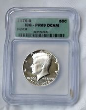 1976 S KENNEDY SILVER ICG PR69 DCAM HALF DOLLAR 50C COLLECTABLE GIFT IDEAS Y12