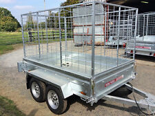 7x4 TWIN AXLE CAGED,BOX UNBRAKED TRAILER WITH FREE COVER