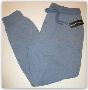 Sleep Lounge Pants Mens LRG Hanes Black Label - Blue Heather 2 Pockets tie waist