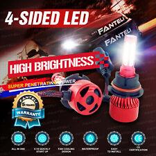 9004 HB1 2200W 330000LM CREE COB LED Headlight Kit Hi/Lo Power Bulbs 6000K White