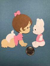 1 Baby & Bunny Set Premade PAPER Die Cuts / Scrapbook & Card Making