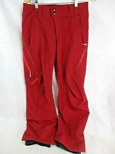 Patagonia Insulated Powder Bowl Women's Ski Snow Pants - Medium Red Gore-tex