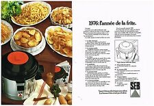 Publicité Advertising 1976 (2 pages) La Friteuse Electrique SEB