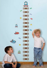 THOMAS the TANK ENGINE TRAIN Growth Chart Wall Stickers tracks kids room decor