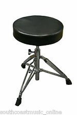 SaLE DXP DA1241 DOUBLE BRACED HEAVY DUTY DRUM STOOL THRONE TRIPOD 46-68CM HEIGHT