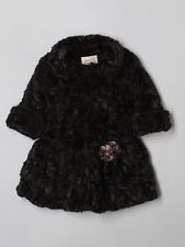 Girl Pluot Brown Faux Fur Winter Dress Coat Size 4