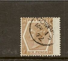 GB 1872 SG122  PLATE11 SUPERB WING MARGIN CDS USED