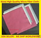 SUPER: 6 pc MICROFIBER CLEANING CLOTH for CELL PHONE SCREEN GLASSES SUNGLASSES