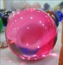 Asian Rose Pink  Crystal glass Healing Ball Sphere 40mm + Stand //2