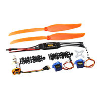 KV1100 Brushless Motor + 40A ESC + Prop Propeller + 9G Servo For RC Aircraft Kit