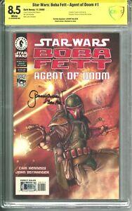 Star Wars: Boba Fett - Agent of Doom #1 CBCS 8.5 (2000) Signed Jeremy Bulloch