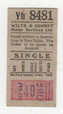 WILTS & DORSET MOTOR SERVICES Ticket PASS Bus ENGLAND UK Wiltshire HAMPSHIRE