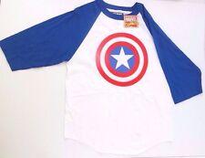 Marvel Comics Captain America Man's 3/4 Sleeve Shirt T-Shirt Size M 100% Cotton