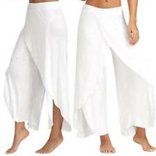 Women Yoga Harem Pants Thai Baggy Flowy Boho Gypsy Hippie Slit Beach Trousers US