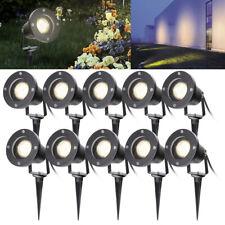 2x-10x LED Gartenstrahler Lampe Außen-Strahler Gartenleuchte Erdspieß Warmweiß