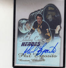 "2001 TOPPS STANLEY CUP HEROES  PHIL ESPOSITO ""BOSTON BRUINS"" AUTO AUTOGRAPH"