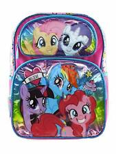 "NEW My Little Pony Believe 16"" Large School Backpack Book Bag"