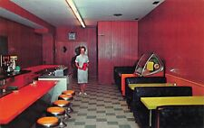 Dunnville Ontario Canada Juke Box Embers Dining Room Postcard