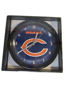 Chicago Bears NFL Football Clock, black rim battery operated New in box
