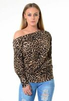 LADIES BATWING BAGGY TOP WOMENS JUMPER JERSEY LONG SLEEVE PLAIN TOPS PLUS SIZE