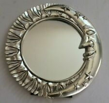 VINTAGE CRESCENT MOON STARS AND SUN WALL OR TABLE MIRROR