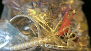 17 lbs mixed metals lot junk, scrap, wearable, sellable, some severely tangled