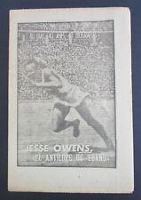 1963 JESSE OWENS Souvenir Biography Supplement MARCA Sports Magazine Newspaper
