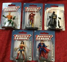 "5 DC Comics Justice League 2.5"" Super Hero Figures Flash Batman Superman Aquaman"
