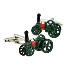 Traction Steam Engine Design Cufflinks Presented in a Cufflink Box X2NC082