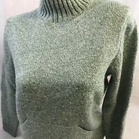 346 Brookes Brothers Pull Over Sweater Women's Medium Lambs Wool Cashmere