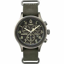 Timex TW4B04100, Men's Expedition Scout Leather Chronograph Watch, TW4B041009J