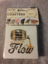 (6) Assorted Coasters-Barware-Man Cave / Beer / Draft-Free Ship-New