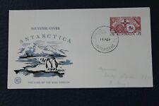 1957 Antarctica Souvenir Home Of King Penguin Cachet-Australia 3 1/2 Pence