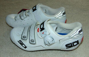 NEW  Sidi Alba Carbon Road Cycling Shoes White sz Women's 38 1/2  Made in ITALY