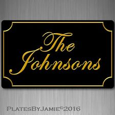 """Personalized 3D Font Your Any Family Name  Sign Custom Plaque Aluminum 8"""" x 12"""""""