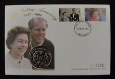 New listing Sierra Leone Coin & Stamp First Day Cover 1997,50th Wedding Anniversary of Queen