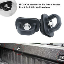 4PCS Car Tie Down Anchor Truck Bed Side Wall Hook Anchors Trim Fit For GMC Chevy