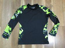 Under Armour Boy's Black/Multi Coldgear Compression Long Sleeve Shirt Sz YXL