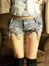 Sexy Micro Denim Shorts Womens Jeans Shorts NightClub Hot Pants Frayed Low Waist