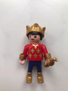 Playmobil Figur Junge Prinz blau rot