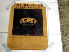 BEATLES~ LOVE SONGS~ MEGA RARE FIND~ VERY GOOD~ A - 11 ~18 X 24 ~ PROMO POSTER