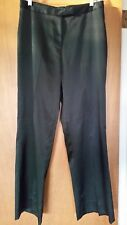 The Limited Black Stretch Satin Pants 10