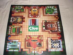 1998 Clue Replacement Game Board Only Game Parts Pieces.