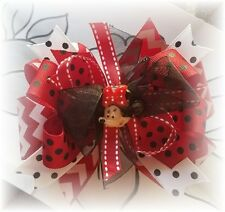 Minnie Mouse Red Chevron Black white 5 - 5 1/2 Inch Boutique Hair bow