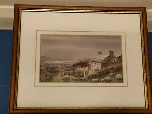 Alun Davies Welsh Cottage Watercolour print  52cm x 31cm